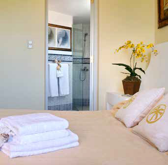 White towels on a bed