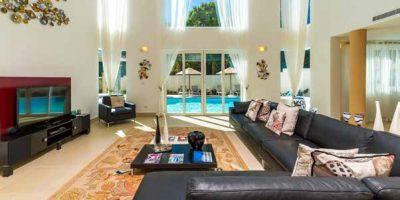 Full view of royal villa living room
