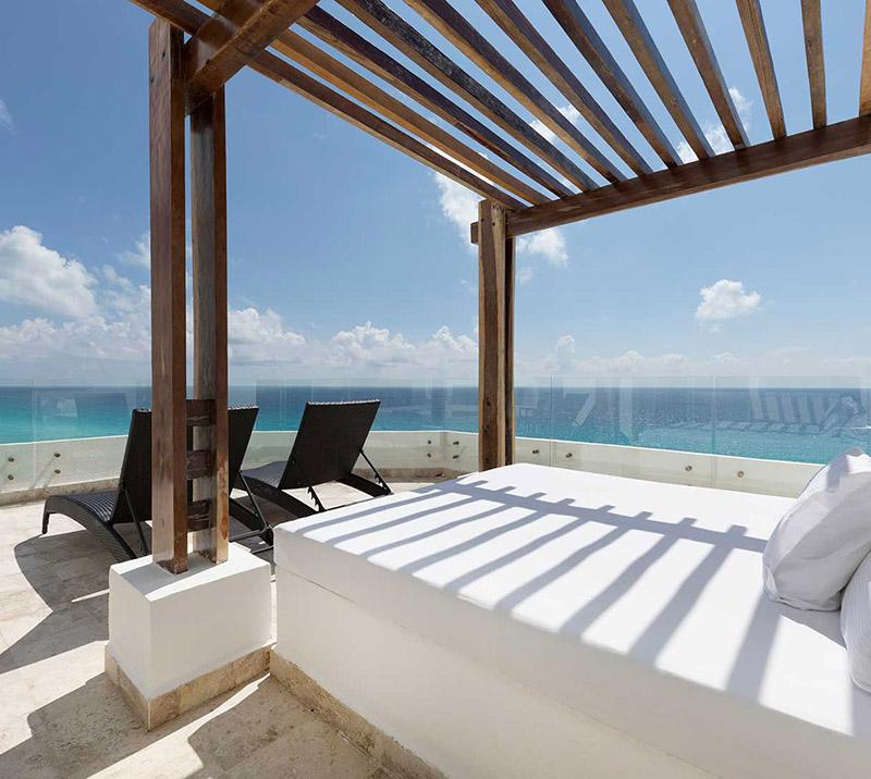 bed ocean view